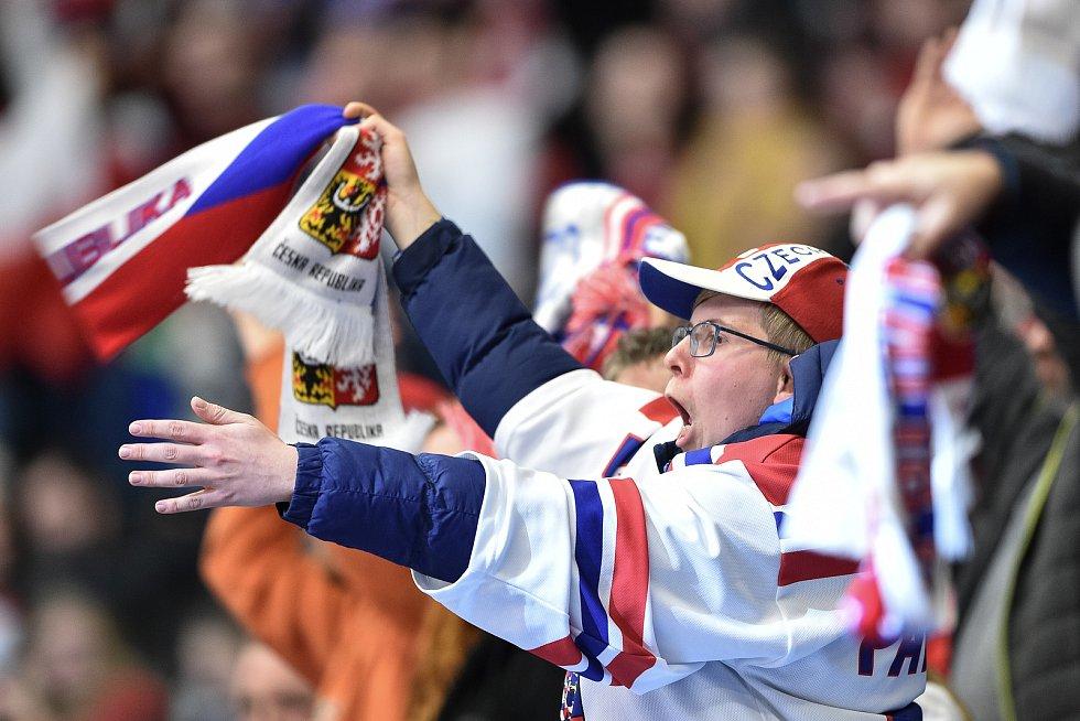 Utkání mistrovství světa hokejistů do 20 let: ČR - USA, 30. prosince 2019 v Ostravě. Na snímku fanoušci.