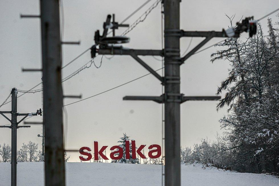 Sjezdovka Skalka, prosinec 2017. Ilustrační foto.