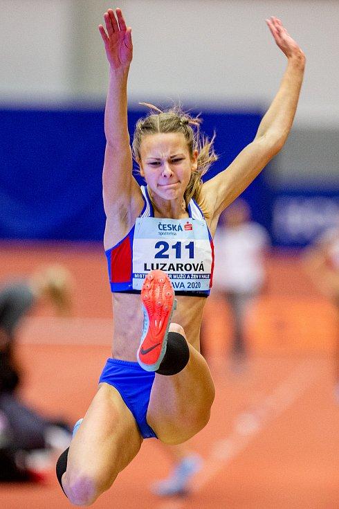Halové mistrovství ČR mužů a žen v atletice, 23. února 2020 v Ostravě. Adéla Luzarová (SSK Vítkovice).