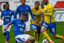5. kolo FORTUNA:LIGA, FK Teplice - FC Baník Ostrava, 26. září 2019 v Teplicích. Martin Fillo z FC Baník Ostrava, který si dal v 75. minutě vlastní gól, který znamenal porážku 1:2.