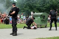 Slezskoostravský hrad ožil ukázkami práce policistů.