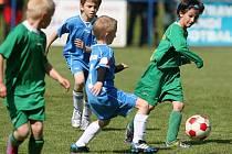Dětský fotbalový turnaj v Petřkovicích.