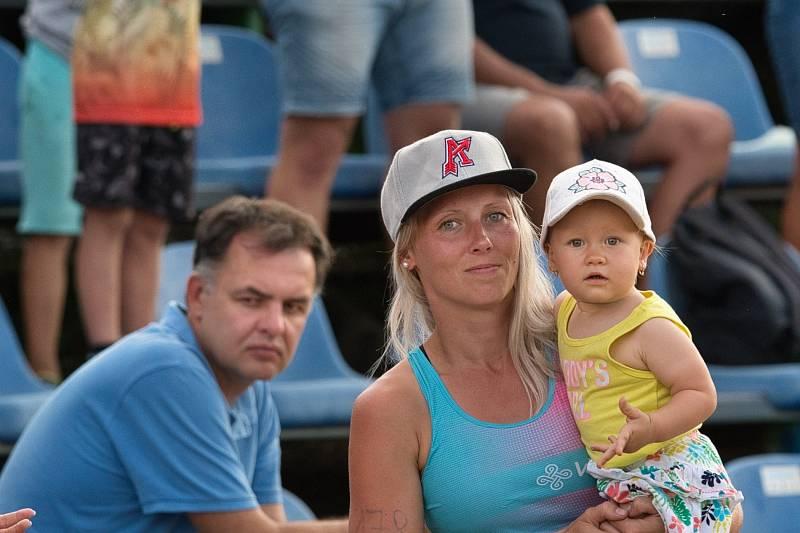 První domácí utkání finále baseballové extraligy ArrowsOstrava - Draci Brno, sobota 14. srpna 2021.