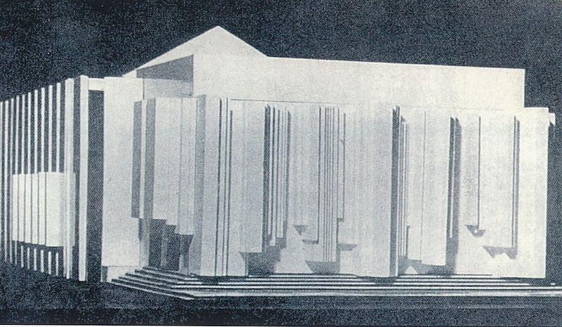 Takto by budova Antonína Dvořáka vypadala, kdyby se při rekonstrukci divadla v roce 1969 přistoupilo na odvážný návrh architekta Ivo Klimeše.