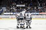 Utkání 51. kola hokejové extraligy: HC Vítkovice Ridera - HC Energie Karlovy Vary, 3. března 2020 v Ostravě. Radost Vítkovic.