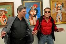 Petr Pavliňák (na snímku vlevo) s Janem Saudkem.