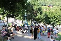 Buskerfest, neboli festival pouličního umění ve Štramberku.