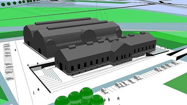 Vizualizace rekonstrukce zachovalé industriální památky.
