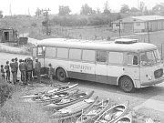 Jarmila Lazecká, Horní Lhota kemp u Staňkovského rybníka, rok 1978