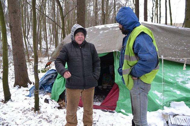 Lidé bez domova vOstravě.