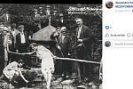 Historický snímek z ostravského obvodu Michálkovice, zveřejněný na sociální síti Facebook ve skupině Nezapomenutá Ostrava.