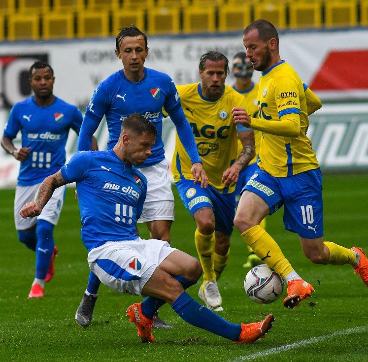 5. kolo FORTUNA:LIGA, FK Teplice - FC Baník Ostrava, 26. září 2019 v Teplicích. Martin Fillo z FC Baník Ostrava