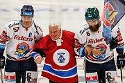 HC Vítkovice Ridera – HC Sparta Praha 3:2 (3:2, 0:0, 0:0), na snímku Rostislav Olesz, František Černík, Jan Výtisk