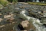 Řeka Odra v období sucha. Ilustrační foto.