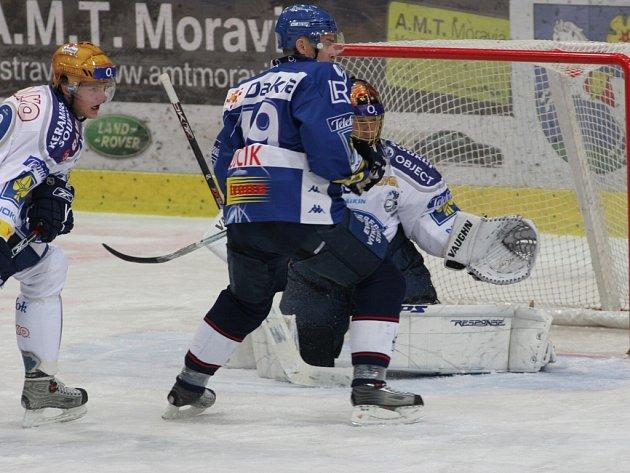 Z utkání Vítkovice-Plzeň