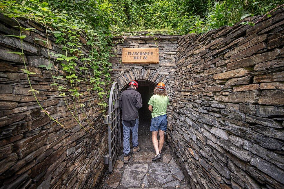 U města Odry se otevřel Flascharův důl, kde se v minulosti těžila břidlice, 9. července 2020.