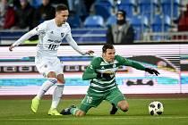 Utkání 18. kola první fotbalové ligy: FC Baník Ostrava - Bohemians Praha 1905, 8. prosince 2018 v Ostravě.