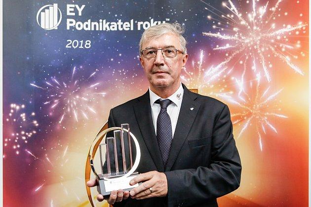 Vítěz krajského kola Podnikatele roku Pavel Mohelník, 23.ledna 2019vOstravě.