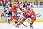 Utkání 7. kola hokejové extraligy: HC Vítkovice Ridera - HC Oceláři Třinec, 3. října 2019 v Ostravě.