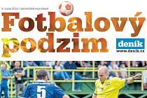 Část titulní strany fotbalové přílohy Deníku.