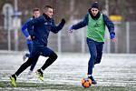Zimní příprava FC Baníku Ostrava, 3. ledna 2019 v Ostravě. Na snímku (vpravo) Nemanja Kuzmanovič.