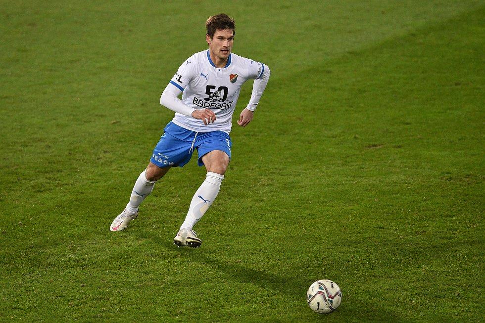 Utkání 13. kola první fotbalové ligy: FC Baník Ostrava - Sigma Olomouc, 18. prosince 2020 v Ostravě. Jaroslav Svozil z Ostravy.