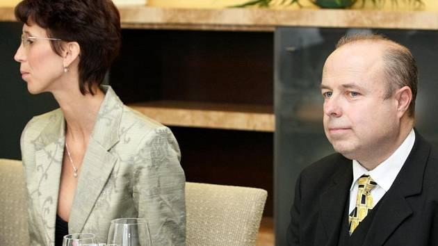 Aleš Zedník s manželkou, první honorární konzul Ruské federace v Ostravě