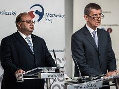 Ilustrační koláž - vlevo hejtman Miroslav Novák, vpravo ministr Andrej Babiš.