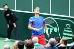 Tomáš Berdych v akci.