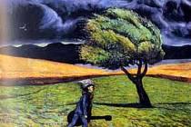 Obraz s názvem Hudebník pochází z malířské dílny Karla Gotta.