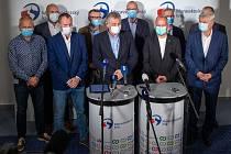 Povolební tisková konference a představení nové koalice krajského zastupitelstva v Moravskoslezském kraji. Ostrava, 4. října 2020.