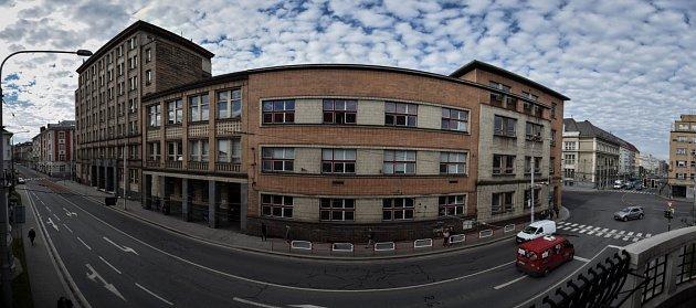 Budova Ekonomické fakulty Vysoké školy báňské - Technické univerzity Ostrava vcentru města.