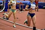 Mezinárodní halový atletický mítink Czech Indoor Gala 2020, 5. února 2020 v Ostravě. Běh 400m ženy (vpravo) Lada Vondrová  z Česka.