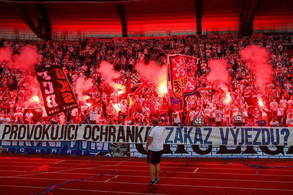 Utkaní 7. kola fotbalové FORTUNA:LIGY: FC Baník Ostrava - 1. FC Slovácko, 23. srpna 2019 v Ostravě. Na snímku fanoušci.