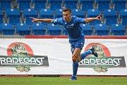 Utkání 1. kola první fotbalové ligy: FC Baník Ostrava - FC Slovan Liberec, 13. července 2019 v Ostravě. Na snímku Jakub Pešek.