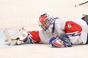 Mistrovství světa v para hokeji 2019, Korea - Česká republika (zápas o 3. místo), 4. května 2019 v Ostravě. Na snímku Vapenka Michal (CZE).