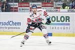 Čtvrtfinále play off hokejové extraligy - 3. zápas: HC Vítkovice Ridera - HC Oceláři Třinec, 24. března 2019 v Ostravě. Na snímku Jakub Lev.