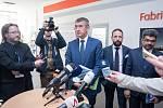 Premiér Andrej Babiš při vládní návštěvě Ostravy v ArcelorMittalu v dubnu 2018.