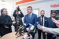 Vláda ČR při návštěvě Ostravy v ArcelorMittalu, 24. dubna 2018.