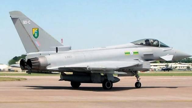 Ilustrační snímek letounu Eurofighter Typhoon F2