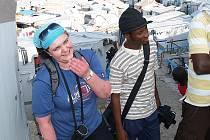 Lenka Poláková na Haiti.