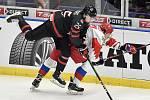 Mistrovství světa hokejistů do 20 let, finále: Rusko - Kanada, 5. ledna 2020 v Ostravě. Na snímku (zleva) Aidan Dudas a Ilya Kruglov.