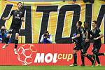 Finále fotbalového poháru MOL Cupu: FC Baník Ostrava - SK Slavia Praha, 22. května 2019 v Olomouci. Na snímku (zleva) Souček Tomáš.