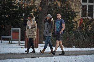 Mrazivé počasí v Ostravě