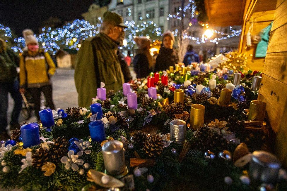 Vánoční trhy na Masarykově náměstí, 28. listopadu v Ostravě.