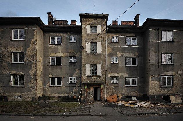 Okolí volební místnost (č. 19003 - Slezská Ostrava - Hrušov), kde vprvním kole nepřišel ani jeden volič, 26.ledna 2018.