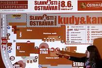 Organizátoři Slavností pivovaru Ostravar na tiskové besedě informovali o finišujících přípravách na sobotní akci.