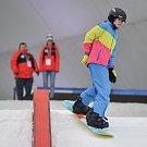 Olympijský festival u Ostravar Arény, 17. února 2018 v Ostravě. Snowboarding, snowboard.