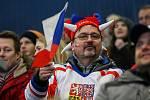 Olympijský festival u Ostravar arény.Fanoušci fandí při hokejovém utkání mezi Českem a Kanadou
