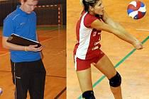 SOUROZENCI PROTI SOBĚ. Lukáš a Kamila Spáčilovi stojí v této sezoně na opačné straně sítě.